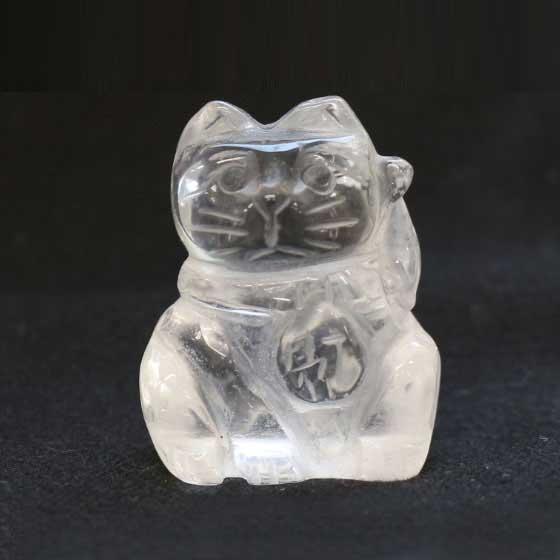 招き猫 ラッキーキャット 水晶