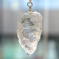 ヒマラヤ水晶ラフカットペンジュラム(天然石 パワーストーン) (tg170711him001whioth) メール便不可