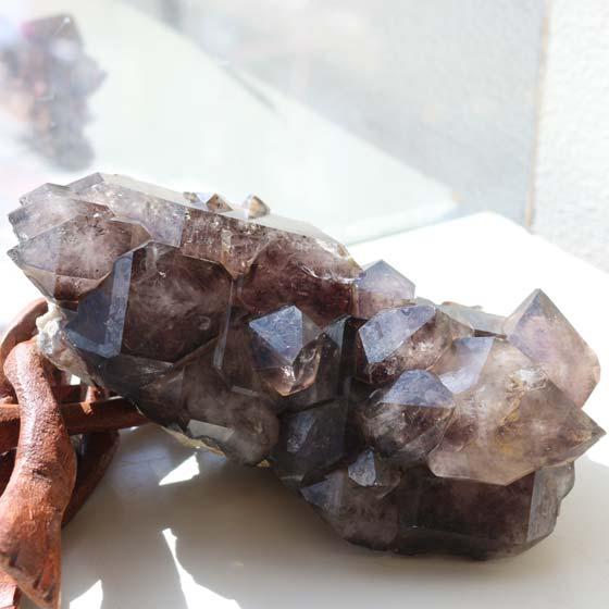 エレスチャルクォーツ原石(ジャカレ―水晶)