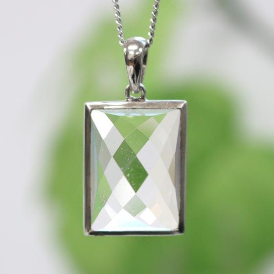 ヒマラヤ水晶長方形SVトップペンダント