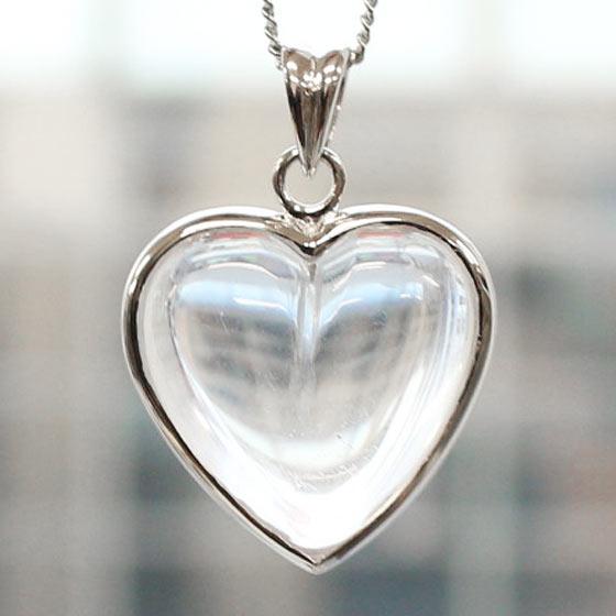 ヒマラヤ水晶ハート型SVトップペンダントBIG HEART