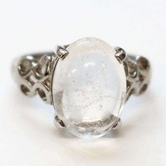 ヒマラヤ水晶オーバル型SVリング
