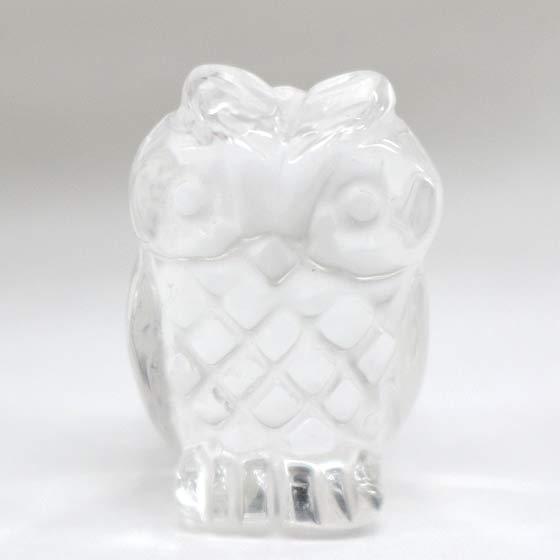 丸ふくろう 水晶 ミニ(天然石 パワーストーン フクロウ 梟)
