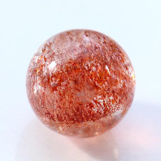 ファイヤークォーツ約18mm球(天然石 パワーストーン 球体 丸玉)