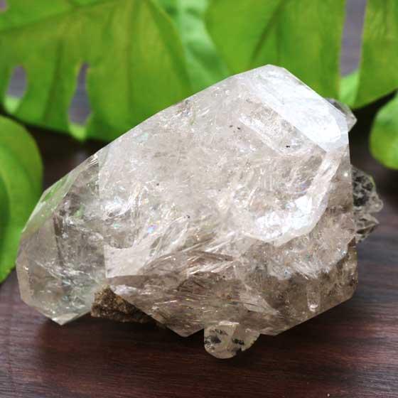 稀少ハーキマーダイヤモンド(ハーキマー水晶)原石 07 レコードキーパー入り レインボー入り