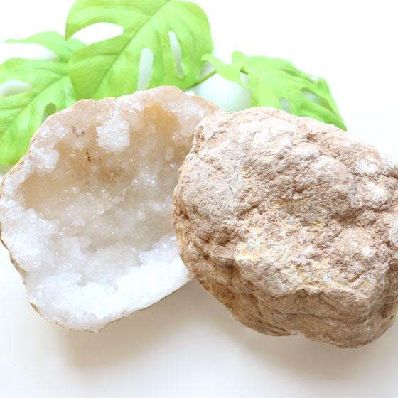 水晶ジオードペア モロッコ産