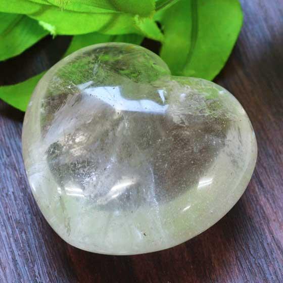 ブラジル産ハート型水晶パワーストーン天然石ラブハート