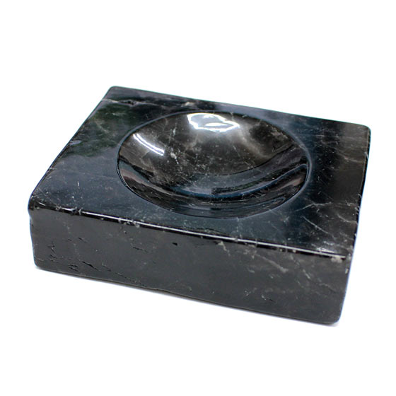 黒水晶台座・浄化皿(天然石 パワーストーン 置物 浄化プレート 丸玉) (tg190514mor001blaoth)メール便不可
