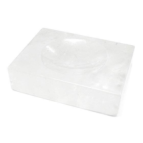 水晶台座・浄化皿(天然石 パワーストーン 置物 水晶皿 浄化プレート 丸玉) (tg190514qua001whioth)メール便不可
