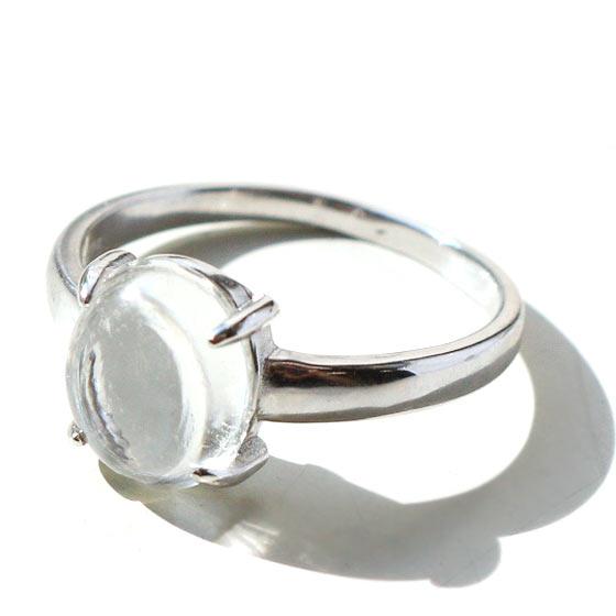 ガネーシュヒマール産ヒマラヤ水晶オーバル型シルバーリング