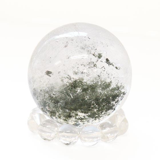 ガネーシュヒマール産ヒマラヤ水晶24mm球(台座付き)