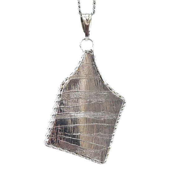 ロシア産メテオライト セイムチャン隕石 スライス ペンダントトップ