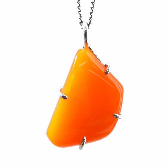 エチオピア産 オレンジオパール シルバー ペンダントトップ