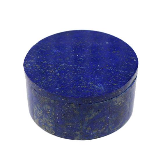アフガニスタン産 ラピスラズリ ボックス 小物入れ(天然石 パワーストーン ケース)(tg200303lap001blubox) メール便不可