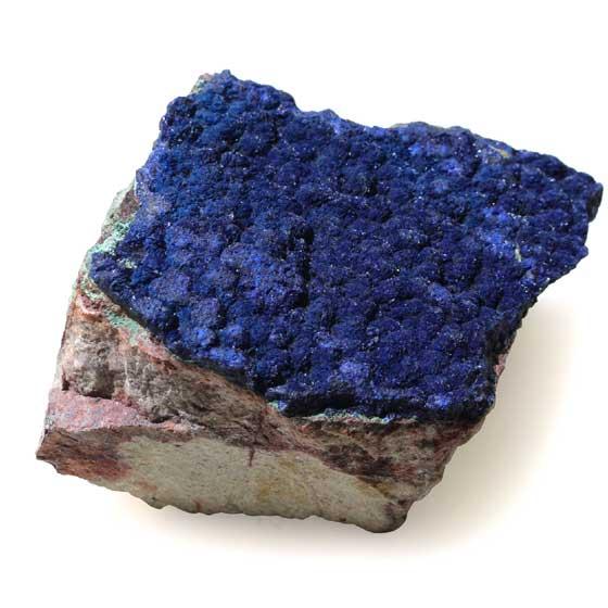 ブラジル産アズライト原石 母岩付き天然石パワーストーン