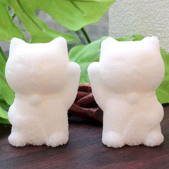 水晶入り盛り塩「Lucky cats」