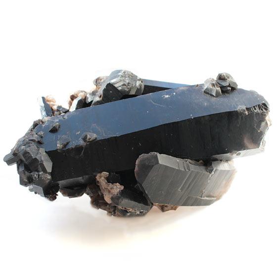 黒水晶 モリオン ポイント 原石 (モーリオン)