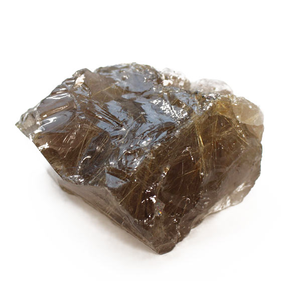 原石 ブラジル産 スモーキーゴールデンルチルクォーツ