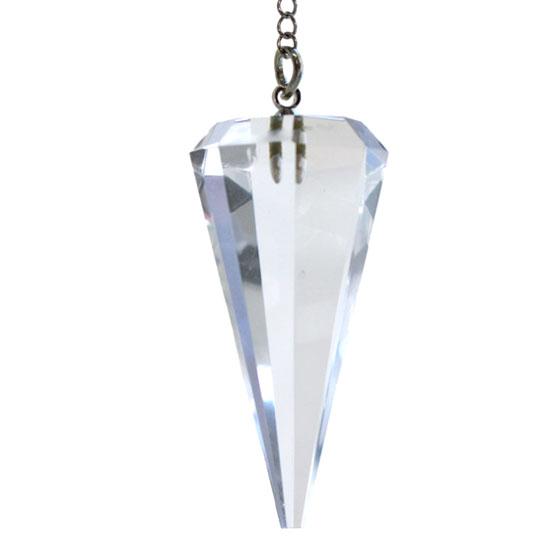 4月誕生石 水晶 カットペンデュラム
