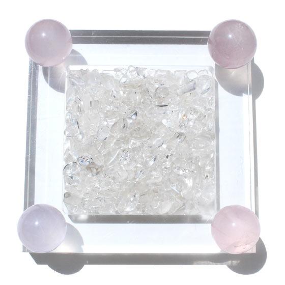 ゼロフィールドスターローズクォーツ 浄化BOXセット ヒマラヤ水晶チップ付き