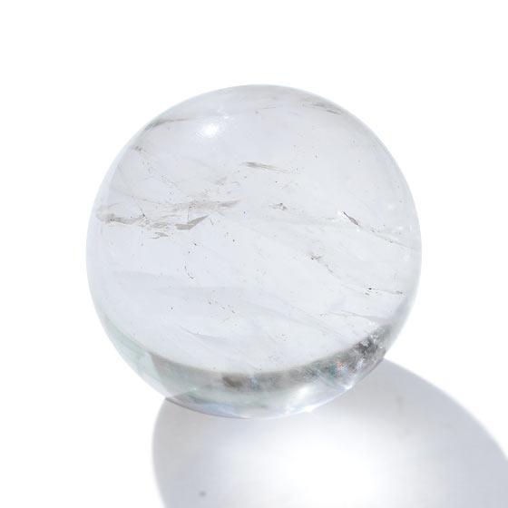 ネパール ガネーシュヒマール産 ヒマラヤ水晶 約34mm球 丸玉 球体