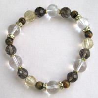 ヒマラヤ水晶(ゼロフィールド浄化ブレス)金運(女性C) 内径15.5cm メール便不可