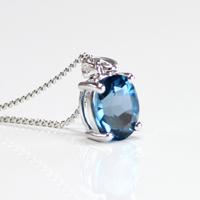 【ペンダント】ロンドンブルートパーズ#1 london blue topaz (tg15000lontopapen) メール便不可