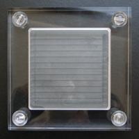 ゼロフィールドボックス+ブラジル水晶8mm球(穴あり)4個セット メール便不可