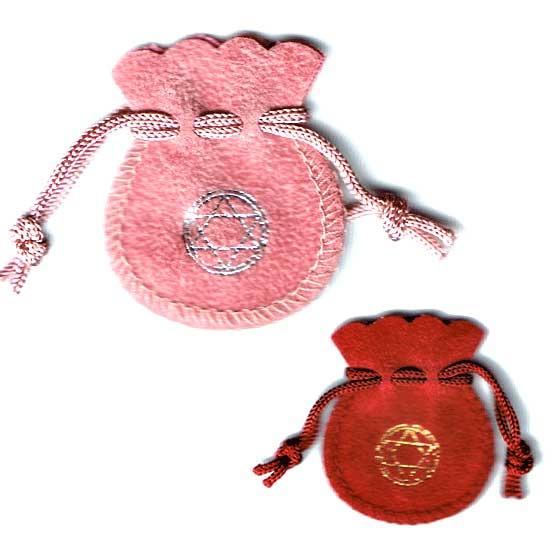 天然石専用ポーチ|お守り袋ミニ(ピンク・赤・紺・金) メール便可
