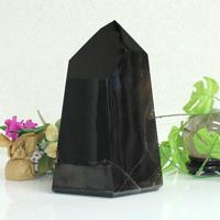 【プレミアム】ブラジル産黒水晶ポイント(鑑別書付き)13.6kg (tg1260000morcrypoint) メール便不可