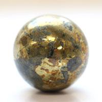 【26~28mm球】チャルコパイライト 天然石 パワーストーン 球体 (newitem68) メール便不可