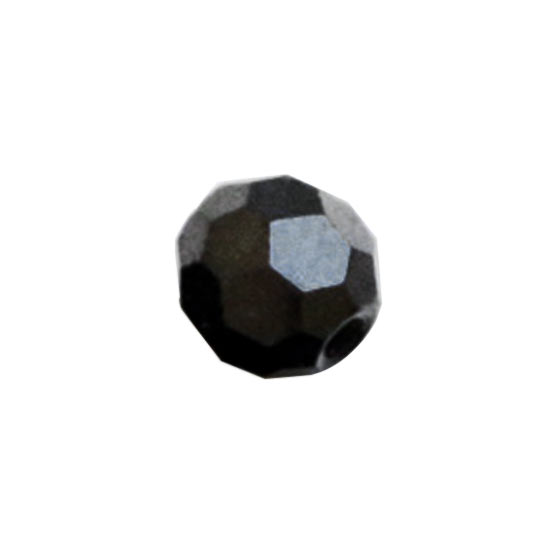 インド産ブラックスピネルミラーボールカット4mmパーツ(10粒売り)パワーストーンビーズ (part04s2spi171010) メール便可