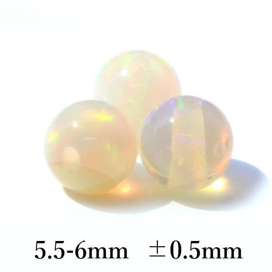 オパール5.5-6mm 高品質パーツ
