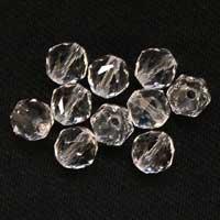 水晶カット6mmパーツ(10粒売り)パワーストーンビーズ (part06s2qua1505) メール便可