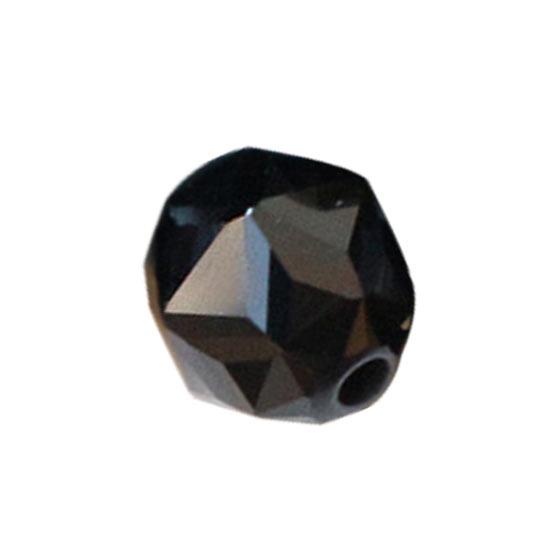 インド産ブラックスピネルダイヤモンドカット6mmパーツ(10粒売り)パワーストーンビーズ (part06s1spi171003) メール便可