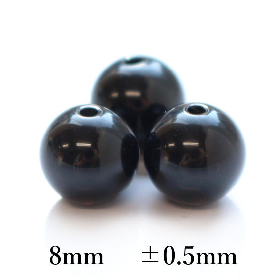 黒水晶8mmパーツ(10粒売り)パワーストーンビーズ (part08s1mori1403) メール便不可
