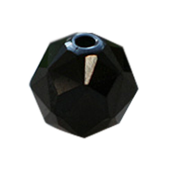 インド産ブラックスピネルダイヤモンドカット8mmパーツ(10粒売り)パワーストーンビーズ (part08s2spi170926) メール便不可