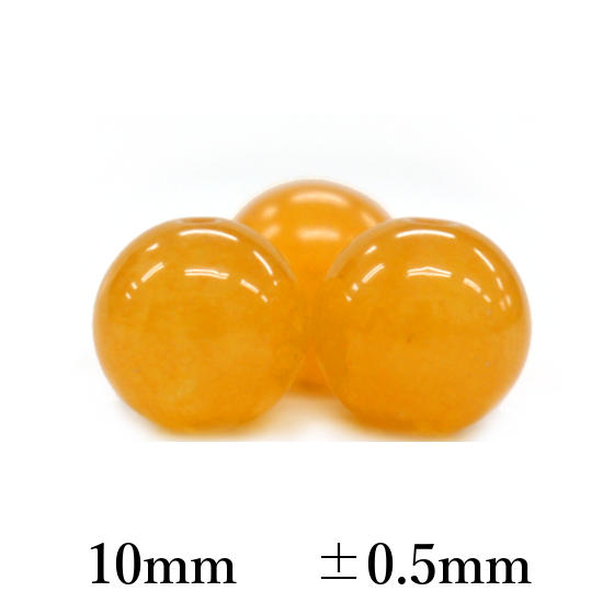 オレンジカルサイト10mmパーツ(10粒売り)パワーストーンビーズ (part10s1cal170822) メール便可