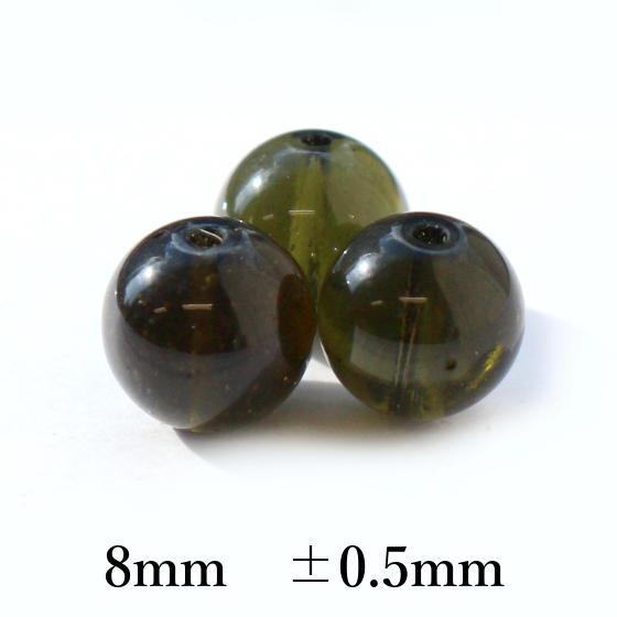モルダバイト8mm パーツ パワーストーン ビーズ 高品質パーツ
