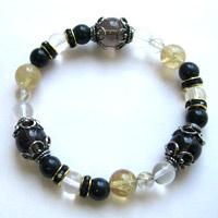 レムリアン水晶(ゼロフィールド浄化ブレス)金運(男性) 内径17.5cm メール便不可