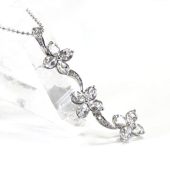 シャイニングフラワーヒマラヤ水晶ネックレス Shining Flower Nackla (tg36000shiflonec) メール便不可