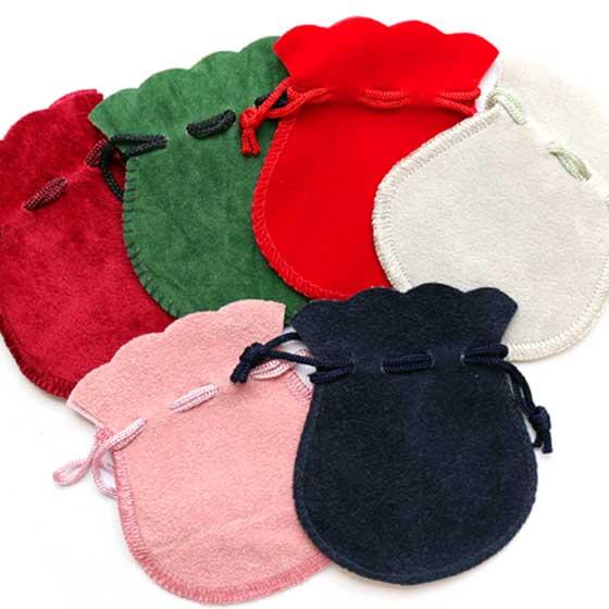 天然石専用ポーチ|お守り袋小(ピンク・赤・紺・エンジ・緑・グレー) メール便可