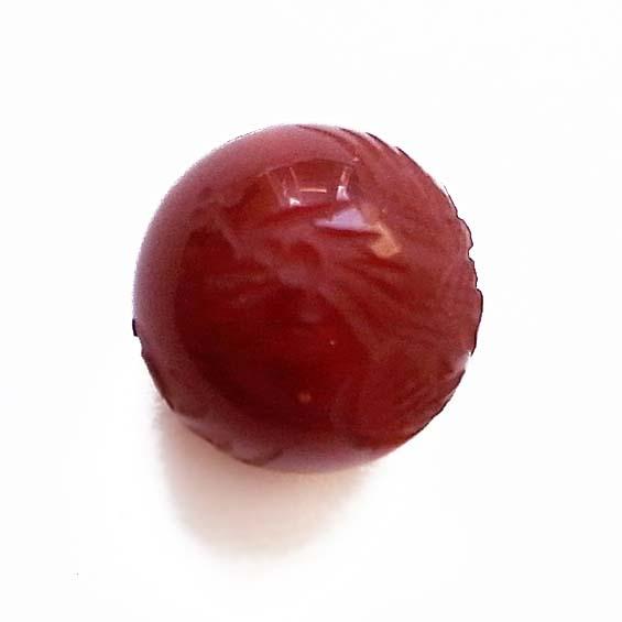 四神彫り  朱雀(カーネリアン) 12mm メール便可