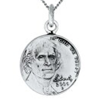ワールドコインペンダント/アメリカ5セントコインペンダント/ts023(シルバートップ コイン 硬貨)