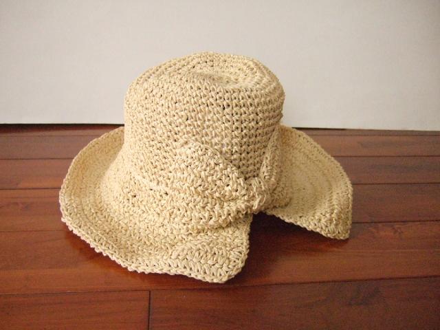 【タイ製】ラフィアハット 帽子 ナチュラルリボン おしゃれ帽子【レターパック可】
