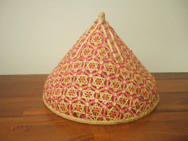 タイ製 パシー フードカバー(虫よけ)やランプシェードとして 小サイズ 赤&緑&黄色