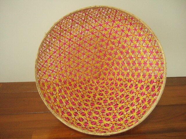 タイ製 パシー フードカバー(虫よけ)やランプシェードとして ピンク&黄色&ピーコックグリーン 赤&緑 2種類 (各1,480円)