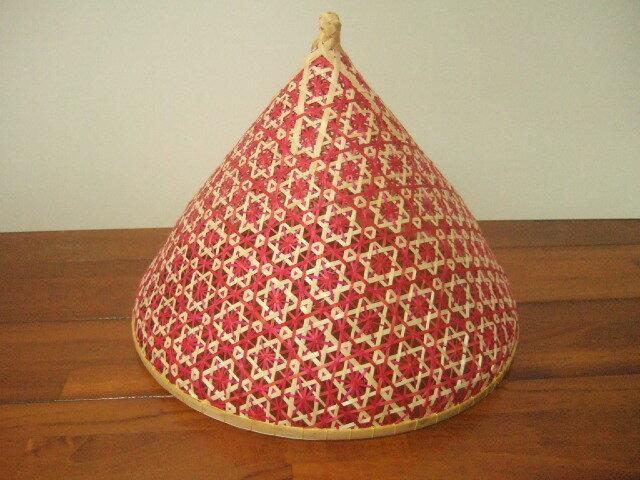 タイ製 ファシー フードカバー(虫よけ)やランプシェードとして 小サイズ 緑&ピンク&黄色