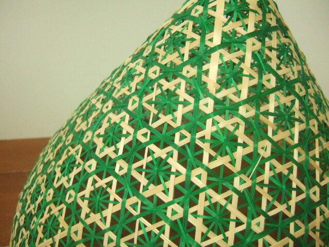 【タイ製】 ファシー フードカバー(虫よけ)やランプシェードとして ピンク(丸)&緑 大サイズ30.5cm