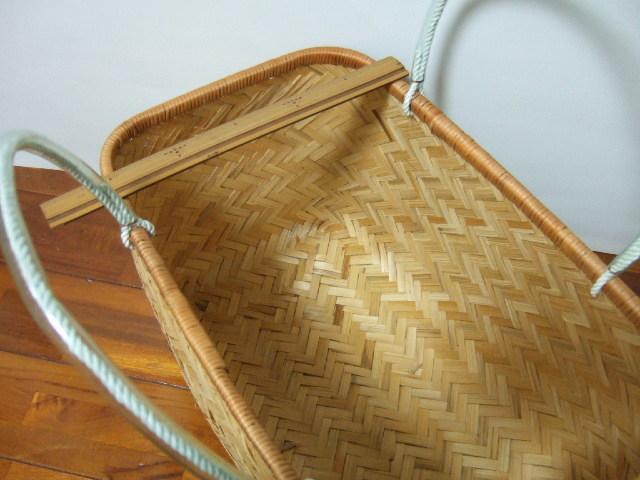 台湾製 竹で作られた市場かご 買い物に最適な竹のかごバッグ 特大